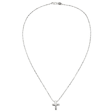 Buy John Lewis Sterling Silver Cross Necklace Online at johnlewis.com