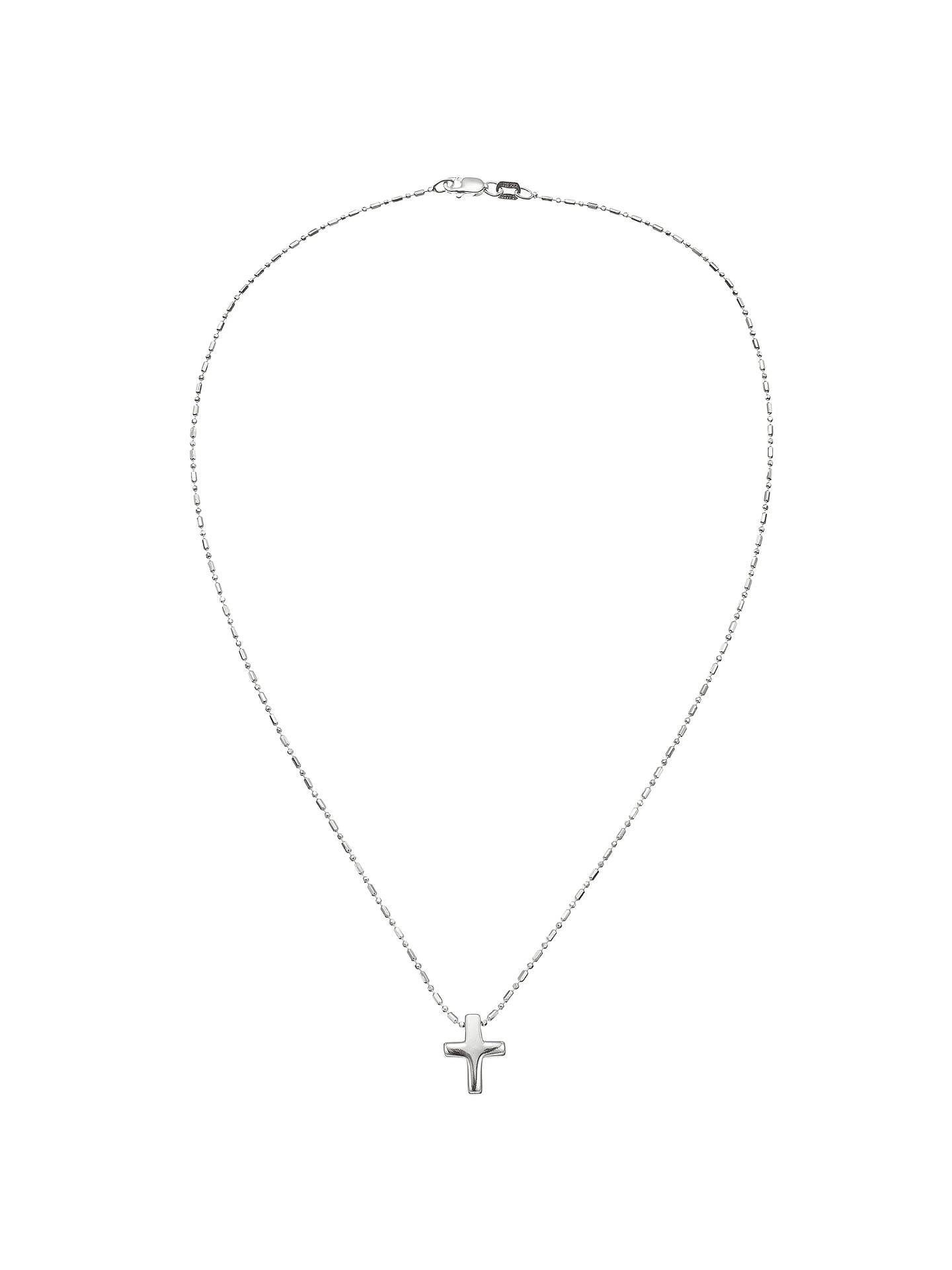 40500d3562cc93 ... Buy John Lewis & Partners Sterling Silver Cross Necklace Online at  johnlewis. ...