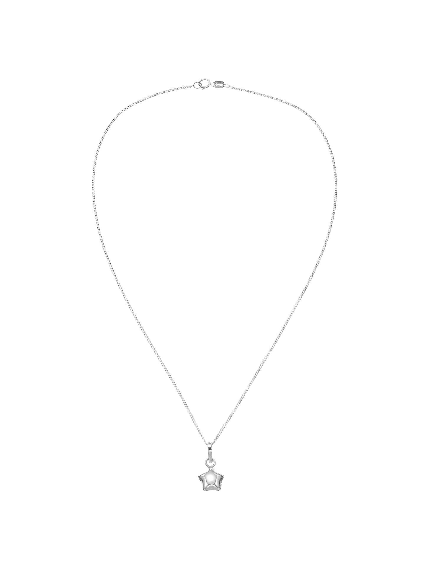 BuyJohn Lewis & Partners Sterling Silver Lucky Star Necklace Online at johnlewis.com
