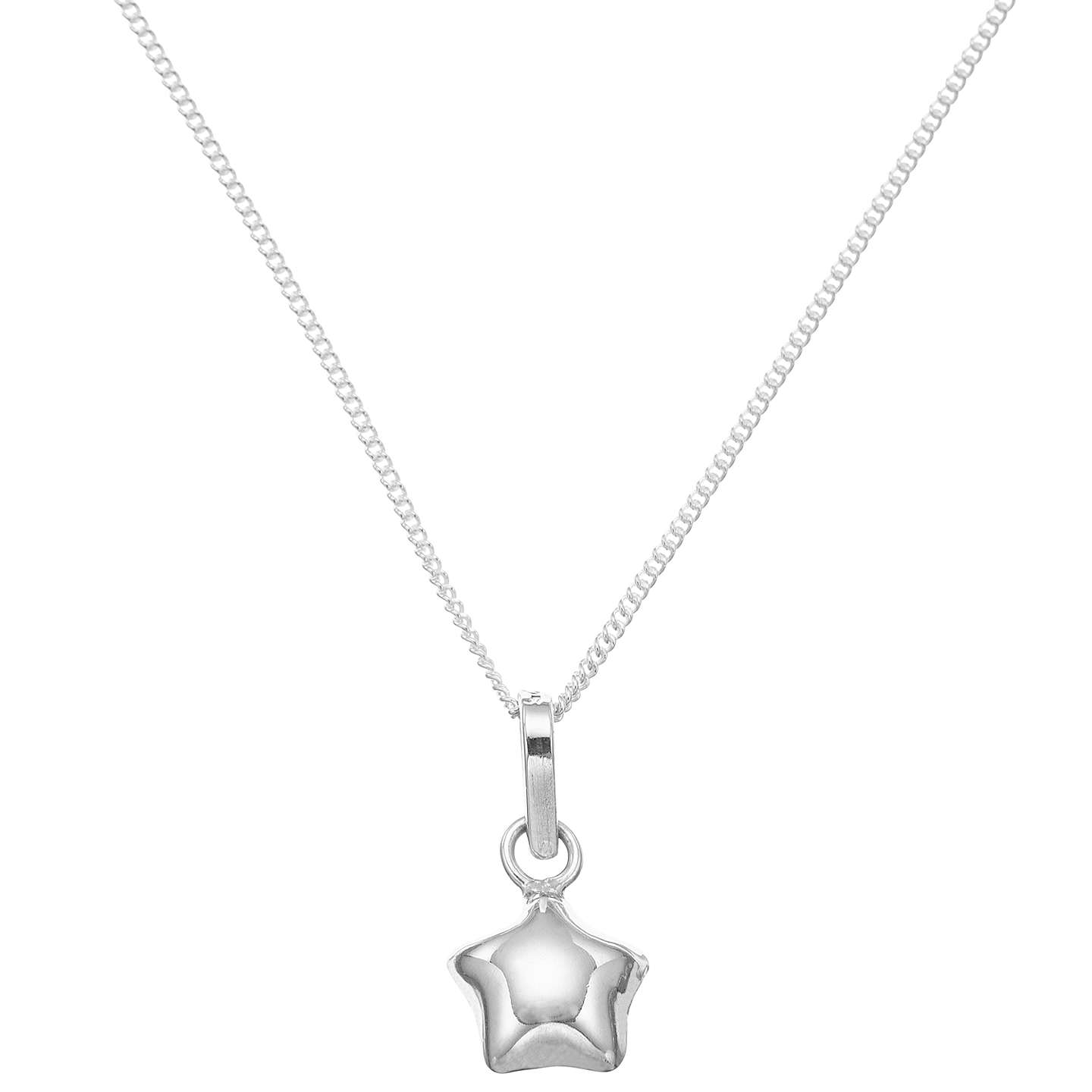 BuyJohn Lewis Sterling Silver Lucky Star Necklace Online at johnlewis.com