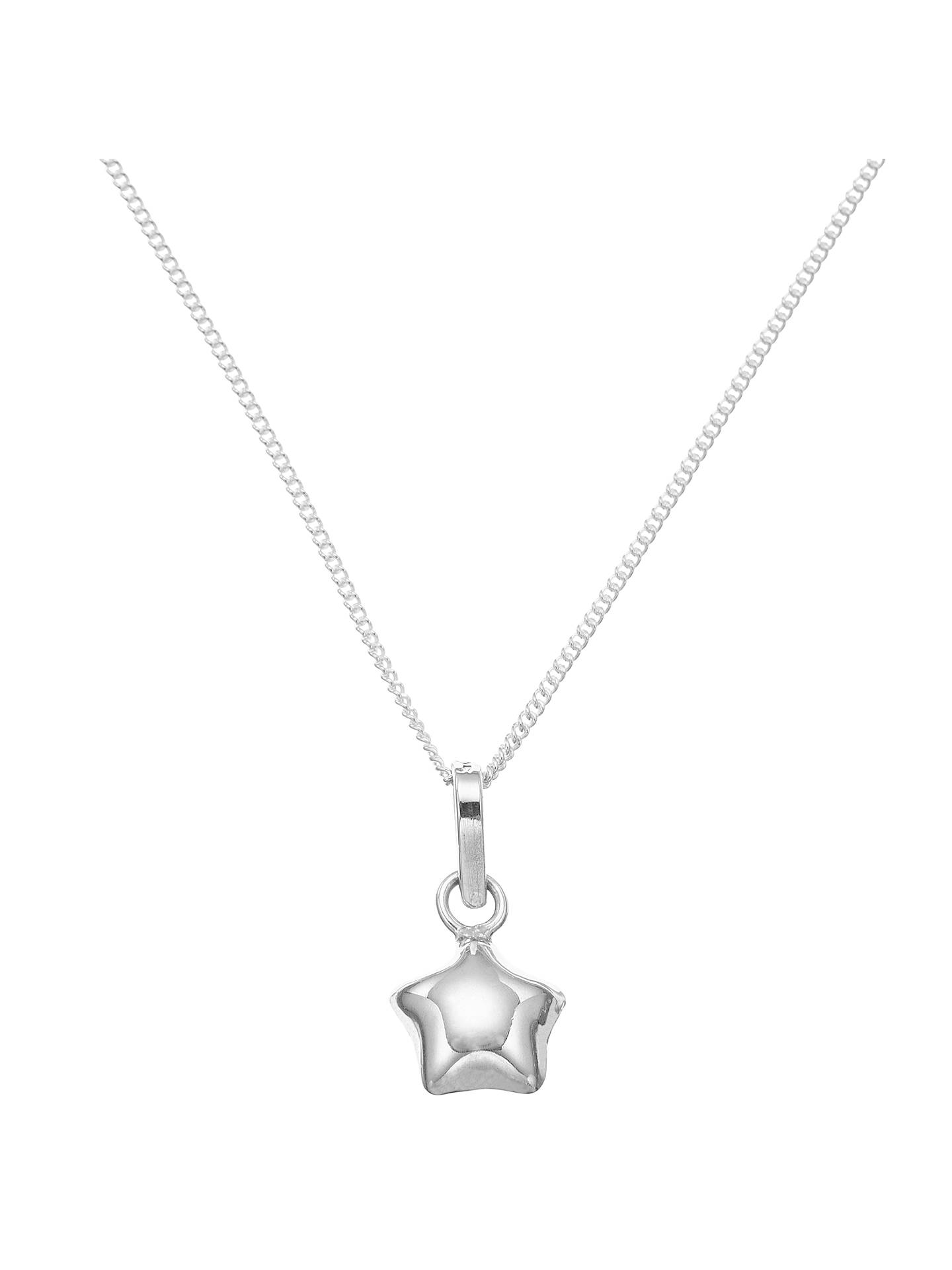 Buy John Lewis & Partners Sterling Silver Lucky Star Necklace Online at johnlewis.com