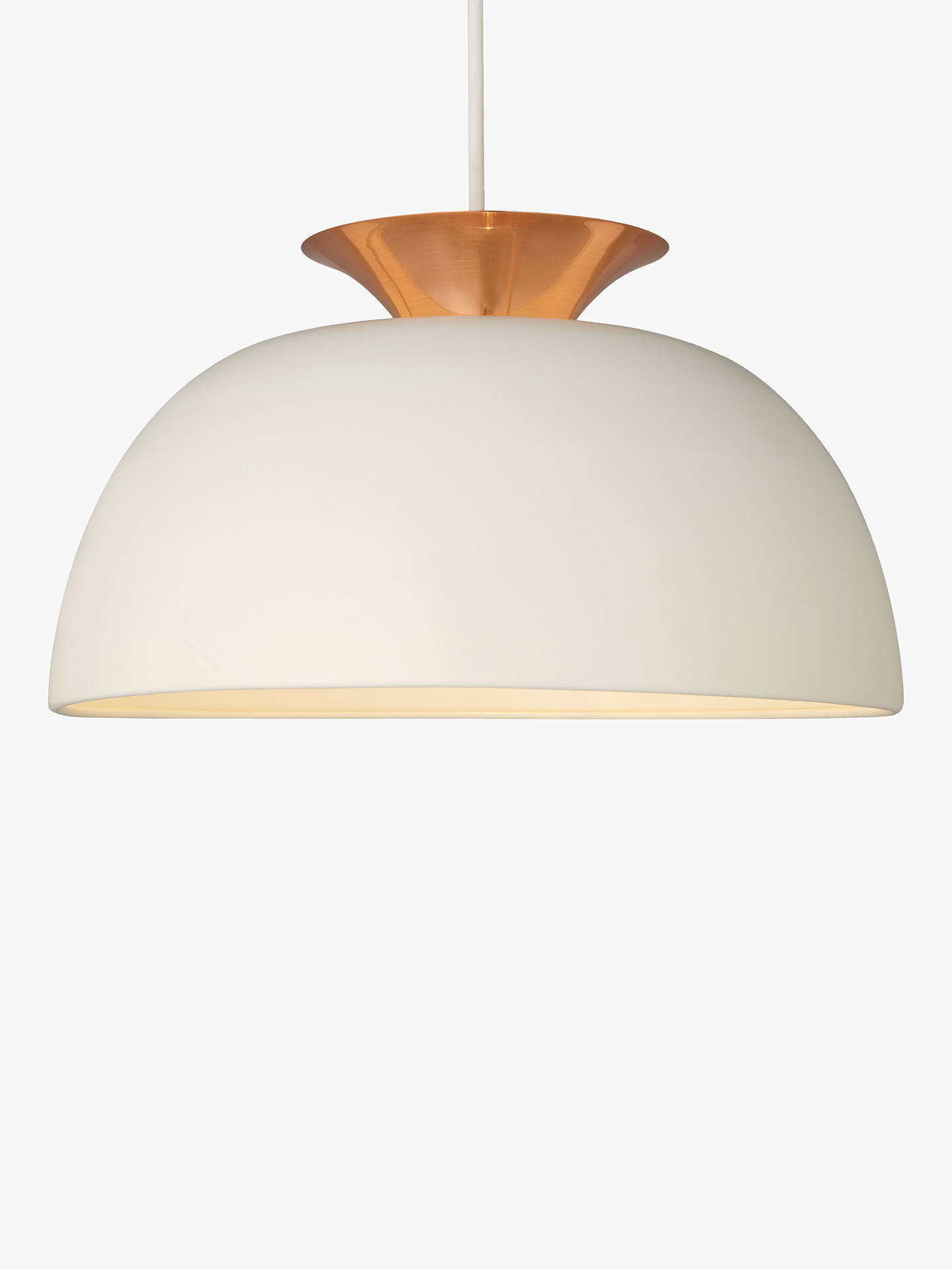Buy John Lewis & Partners Titus Utility Easy-to-Fit Ceiling Shade, Ivory/Copper Online at johnlewis.com