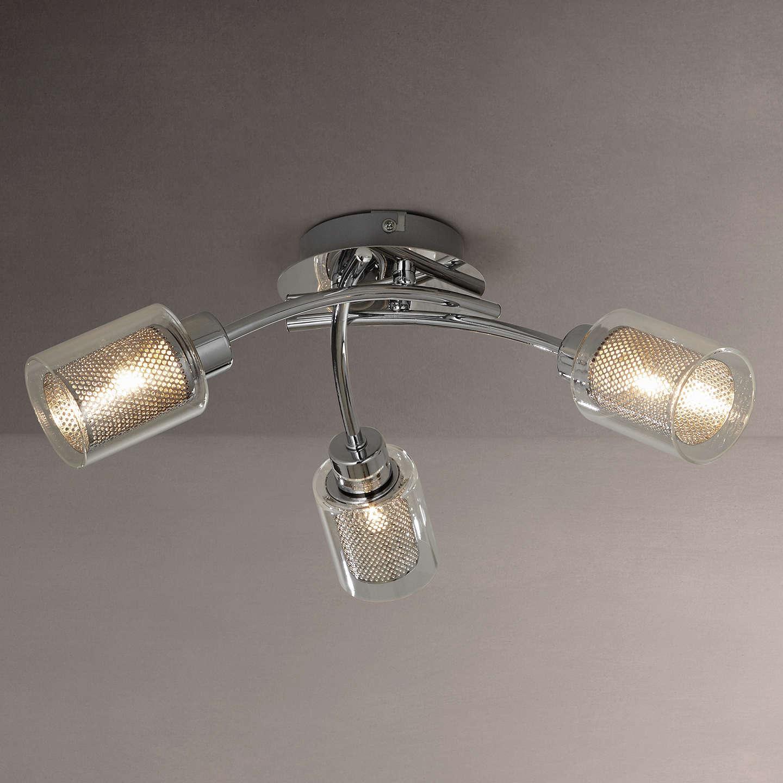 John lewis sierra 3 light semi flush ceiling light chrome at john lewis buyjohn lewis sierra 3 light semi flush ceiling light chrome online at johnlewis aloadofball Images