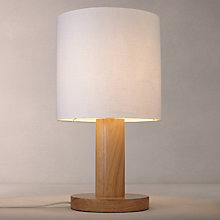 Buy John Lewis Slater Large Wooden Touch Lamp, Light Wood Online at johnlewis.com