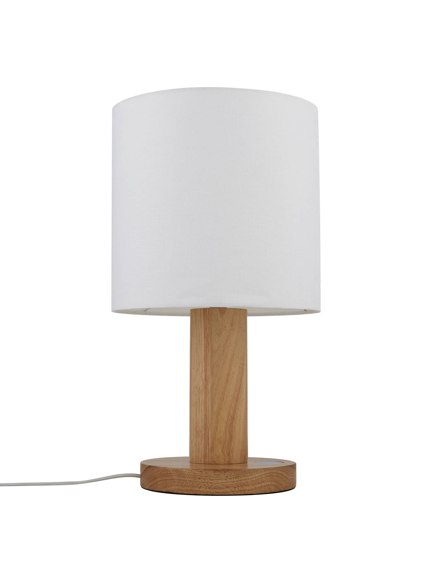 BuyJohn Lewis Slater Large Wooden Touch Lamp, Light Wood Online at johnlewis.com