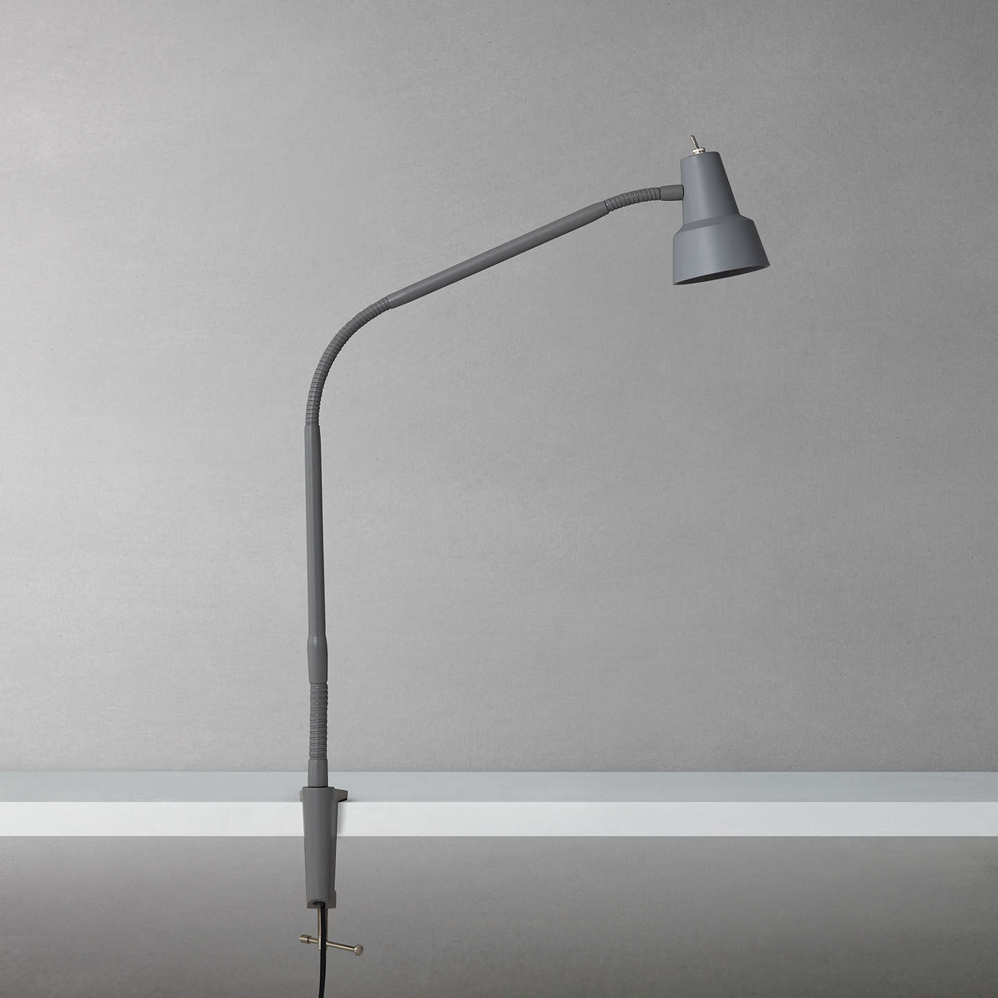 BuyJohn Lewis Zadie LED Clip on Desk Lamp with Clamp, Grey Online at johnlewis.com
