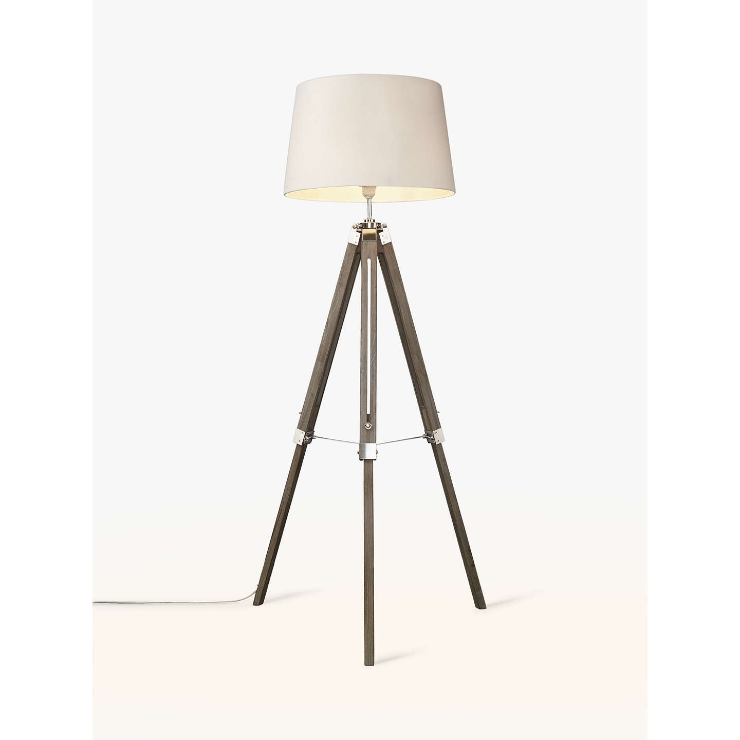 John lewis jacques tripod floor lamp at john lewis buyjohn lewis jacques tripod floor lamp grey online at johnlewis mozeypictures Gallery