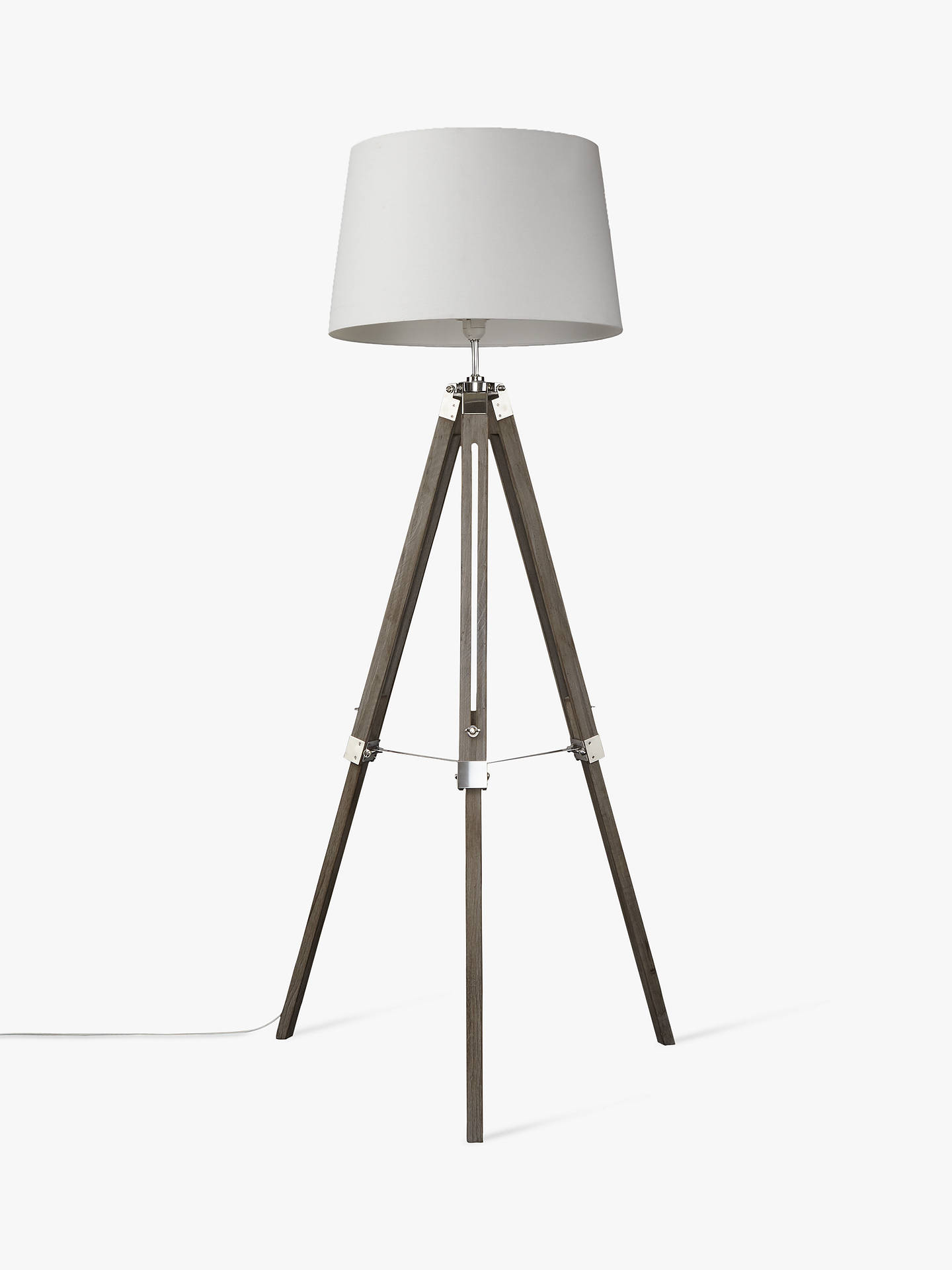 BuyJohn Lewis & Partners Jacques Tripod Floor Lamp, Grey Online at johnlewis.com
