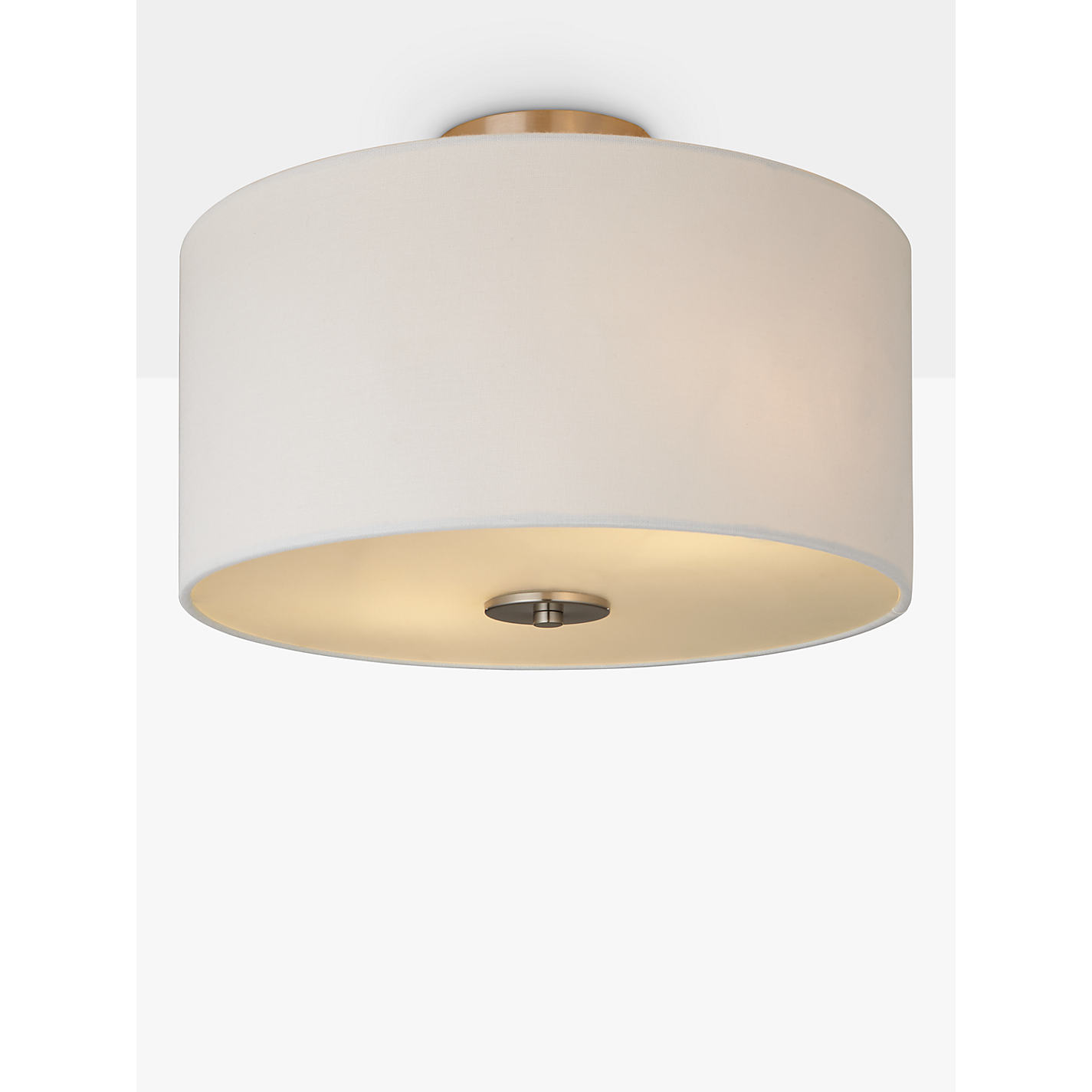 Buy john lewis jamieson semi flush ceiling light satin nickel buy john lewis jamieson semi flush ceiling light satin nickel online at johnlewis aloadofball Choice Image
