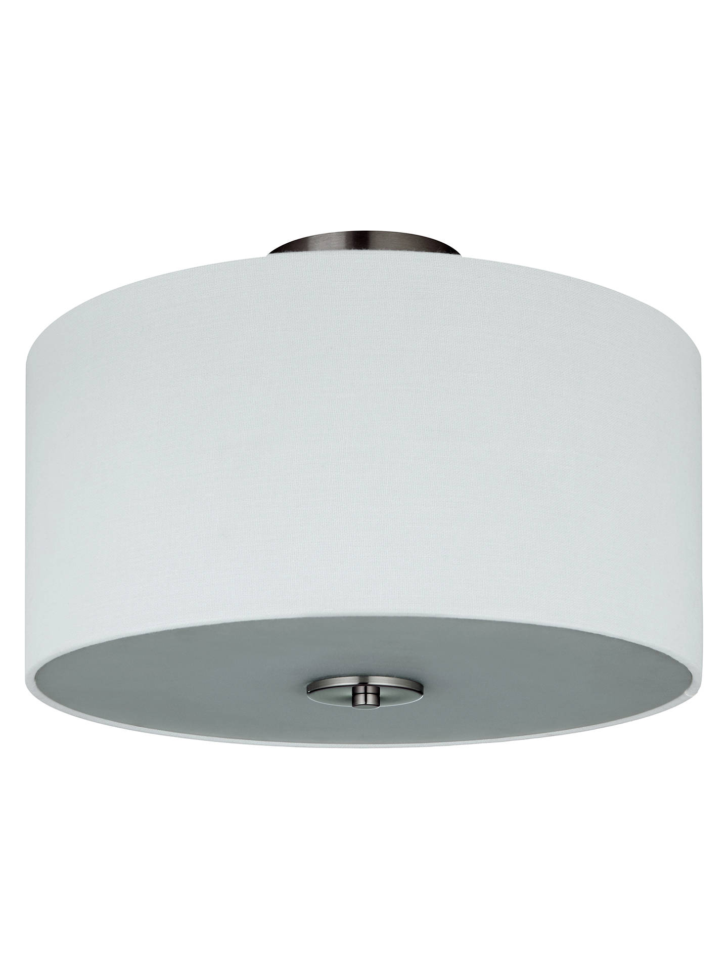 Buy John Lewis & Partners Jamieson Semi-Flush Ceiling Light, Satin Nickel Online at johnlewis.com