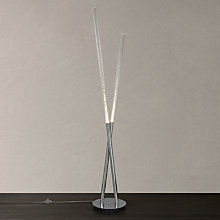 Buy John Lewis Orson Large 2 LED Bubble Tube Floor Lamp, Clear Online at johnlewis.com