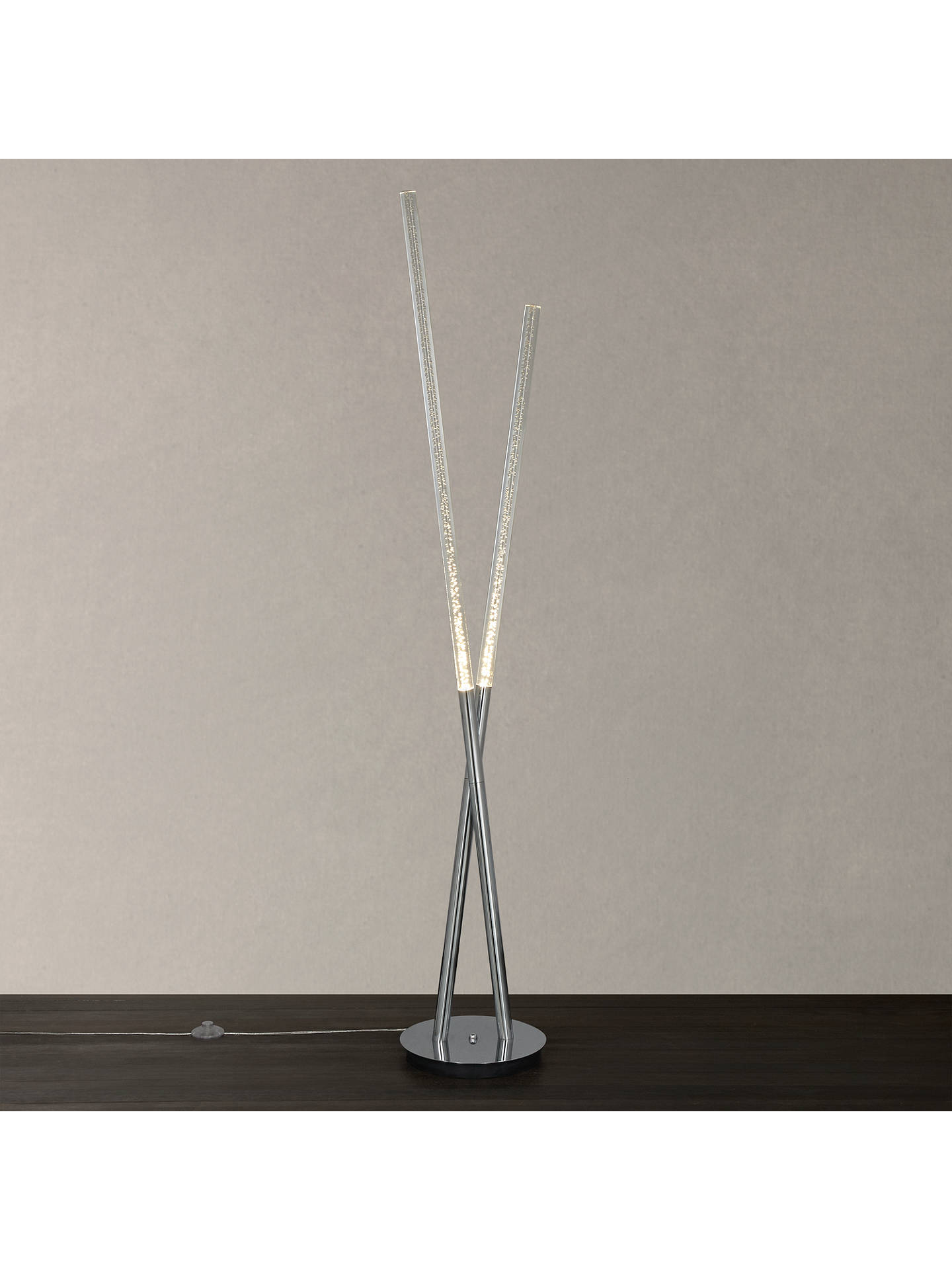 John Lewis Orson Large 2 Led Bubble Tube Floor Lamp Clear At John