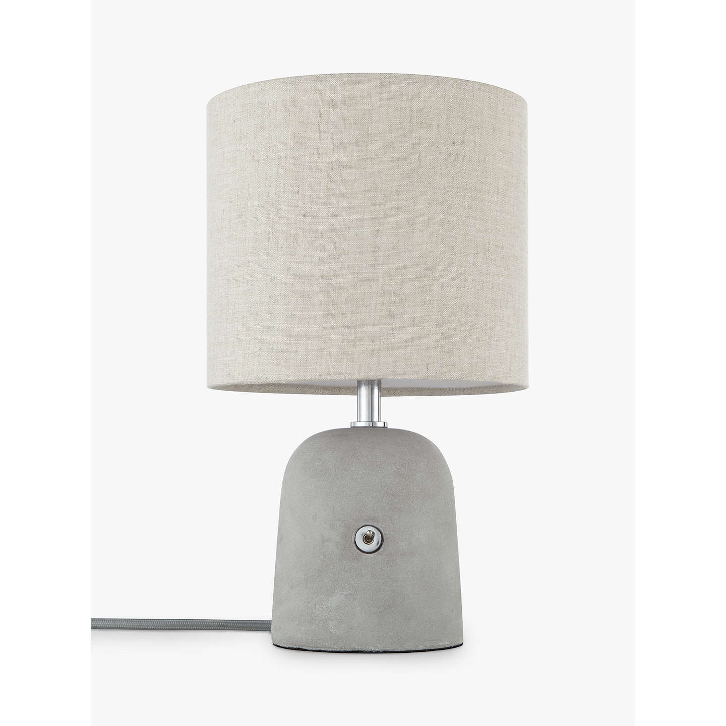 BuyJohn Lewis Meryl Concrete Switch Table Lamp, Grey Online at johnlewis.com