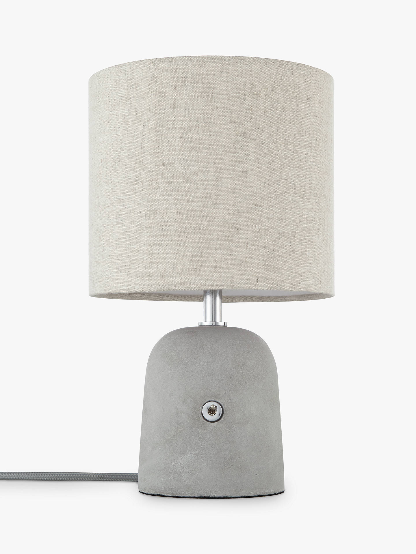 BuyJohn Lewis & Partners Meryl Concrete Switch Table Lamp, Grey Online at johnlewis.com