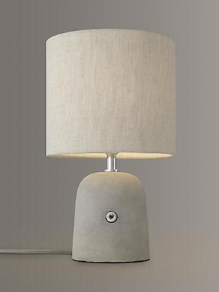 John Lewis & Partners Meryl Concrete Switch Table Lamp, Grey