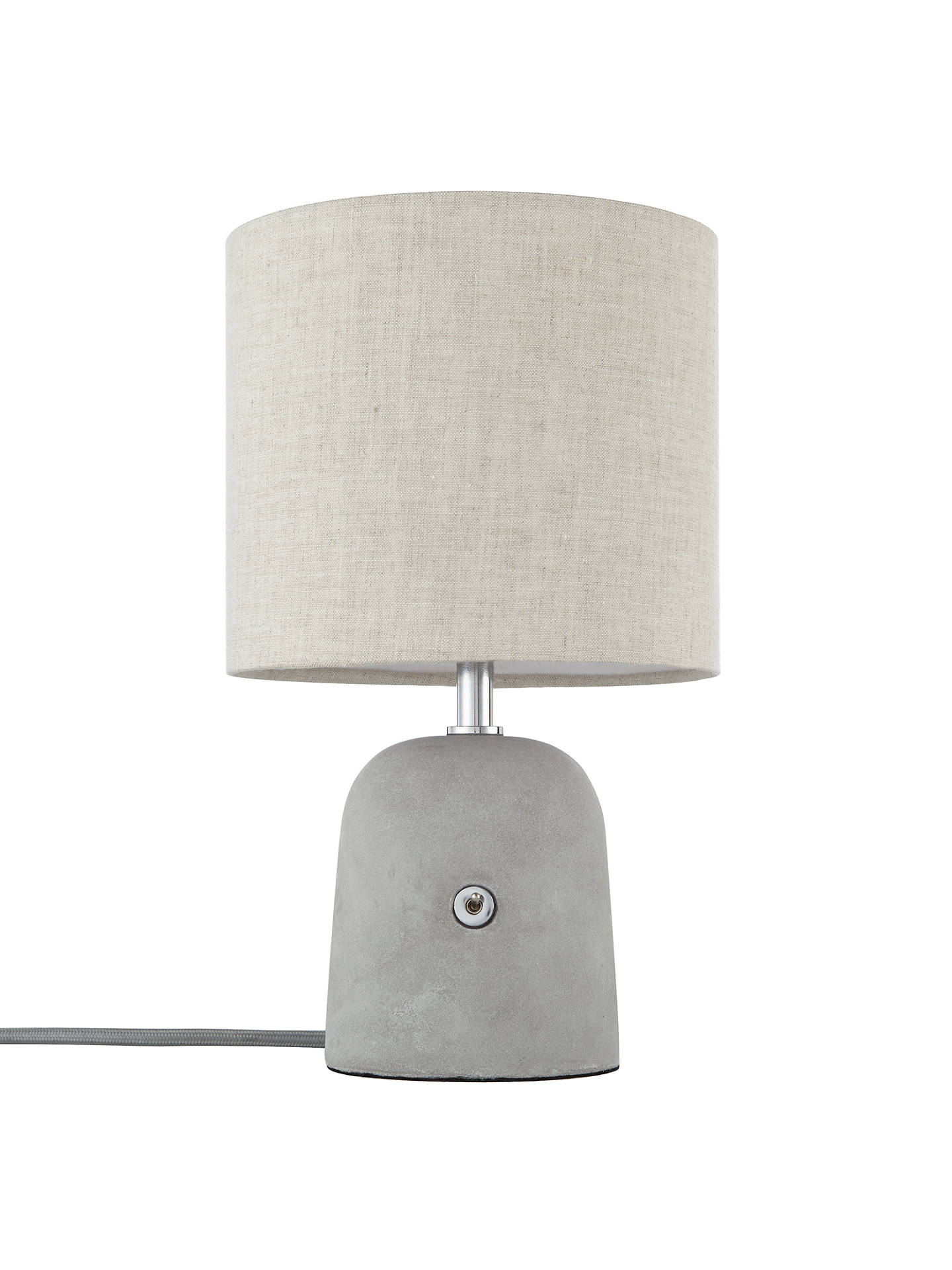 John Lewis Partners Meryl Concrete Switch Table Lamp Grey At With Base Buyjohn Online Johnlewis