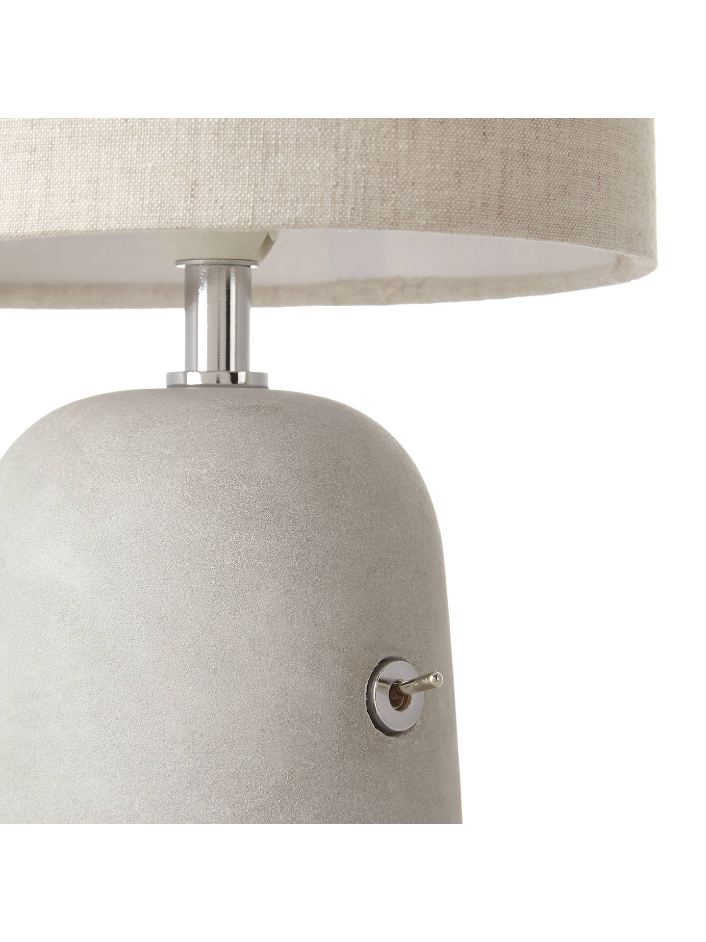 Buy John Lewis & Partners Meryl Concrete Switch Table Lamp, Grey Online at johnlewis.com