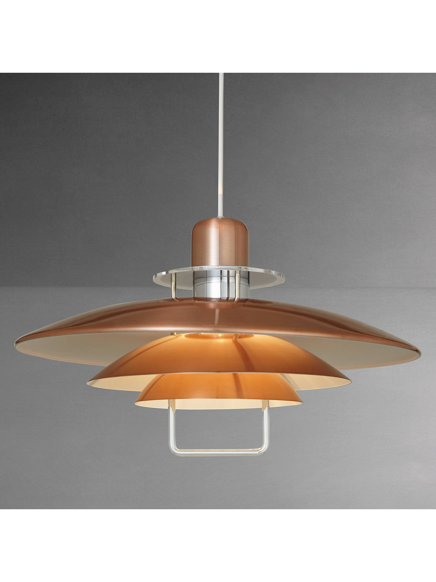 Belid Felix Rise And Fall Pendant Light Copper Online At Johnlewis