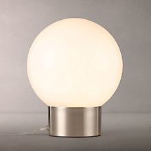 Buy House by John Lewis Globe Table Lamp, Opal/Satin Nickel Online at johnlewis.com