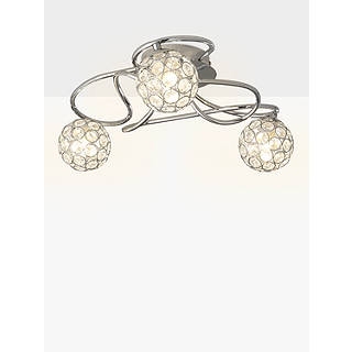 Ceiling lighting furniture lights john lewis john lewis tamara 3 light semi flush ceiling light nickel aloadofball Gallery
