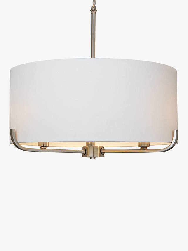 Buy John Lewis & Partners Jamieson Pendant, Satin Nickel Online at johnlewis.com