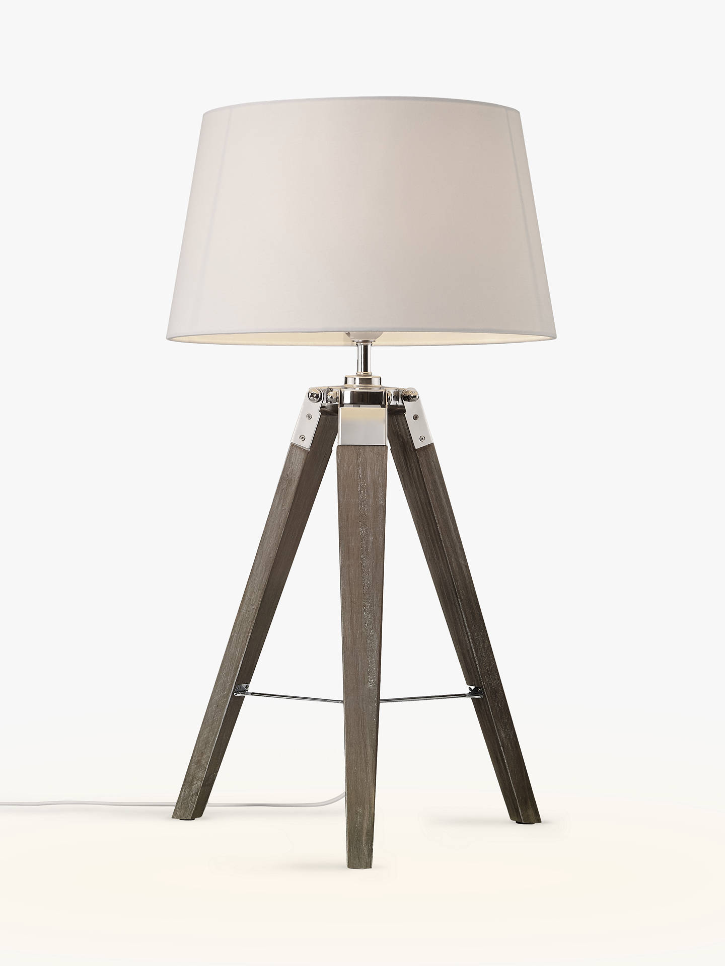 John Lewis Amp Partners Jacques Tripod Table Lamp Grey At
