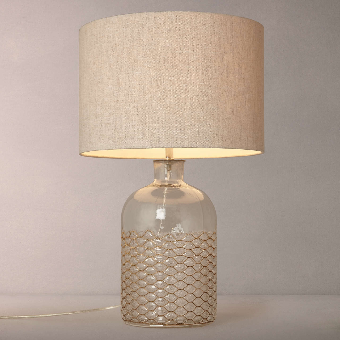 john lewis croft kingsley glass and wire table lamp at john lewis