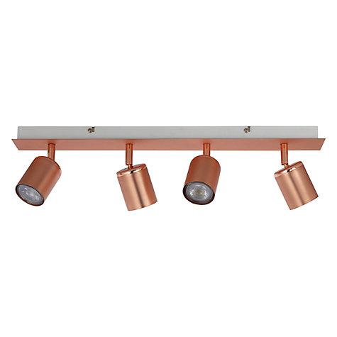 Buy john lewis mode gu10 led spotlight bar 4 light copper john lewis buy john lewis mode gu10 led spotlight bar 4 light copper online at johnlewis aloadofball Images