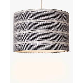 Ceiling lamp shades light shades drum shades john lewis john lewis coastal cotton stripe lampshade blue aloadofball Gallery