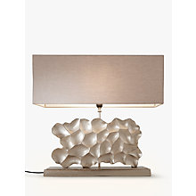 Buy Pacific Lifestyle Mere Sculptured Wide Rectangle Table Lamp, Champagne Online at johnlewis.com