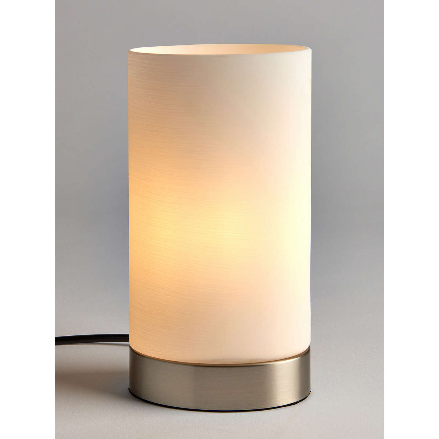 John lewis danny oval touch table lamp satin nickel at john lewis buyjohn lewis danny oval touch table lamp satin nickel online at johnlewis aloadofball Image collections