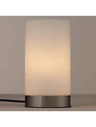 John Lewis & Partners Danny Oval Touch Table Lamp, Satin Nickel