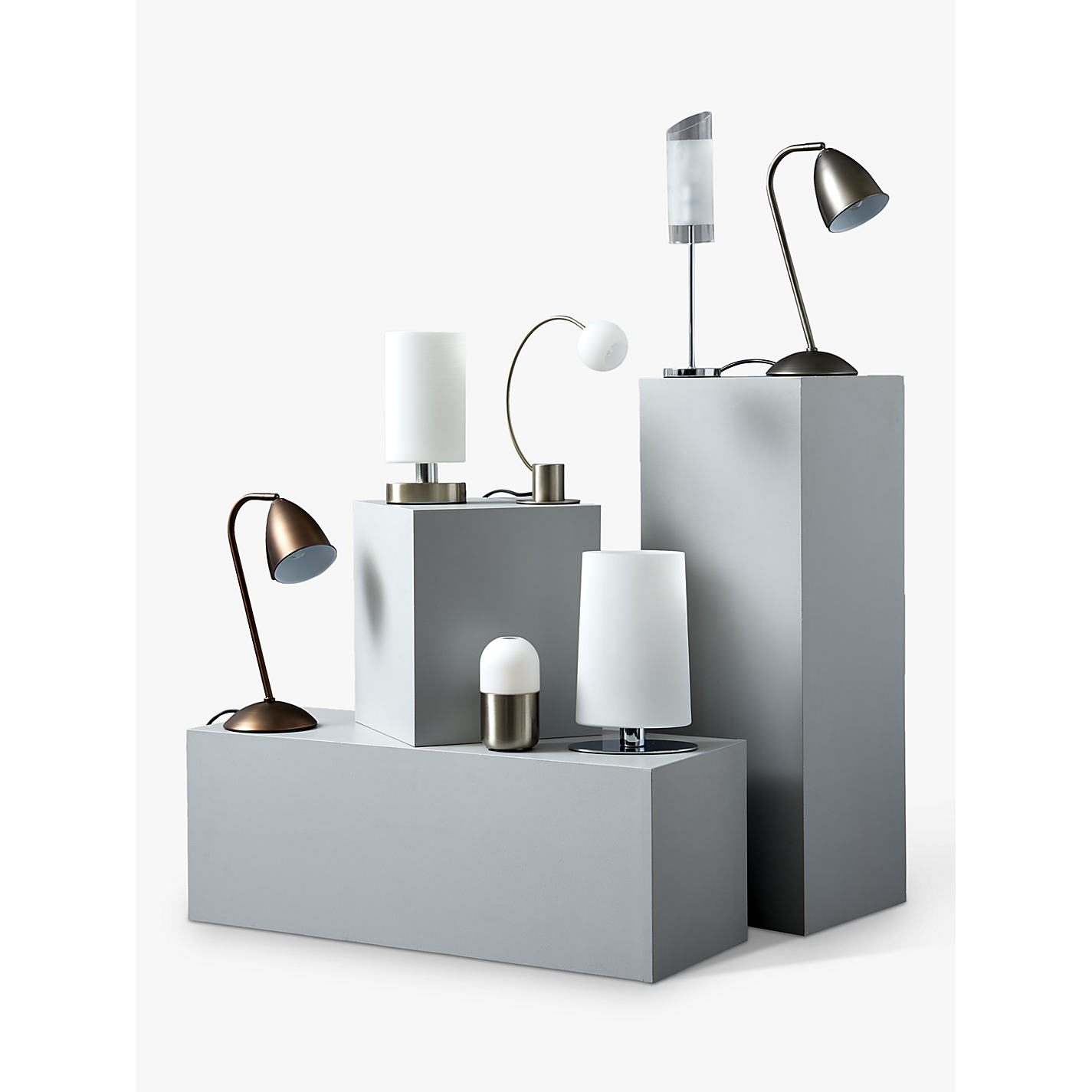 ... Buy John Lewis Danny Oval Touch Table Lamp, Satin Nickel Online At  Johnlewis.com ...