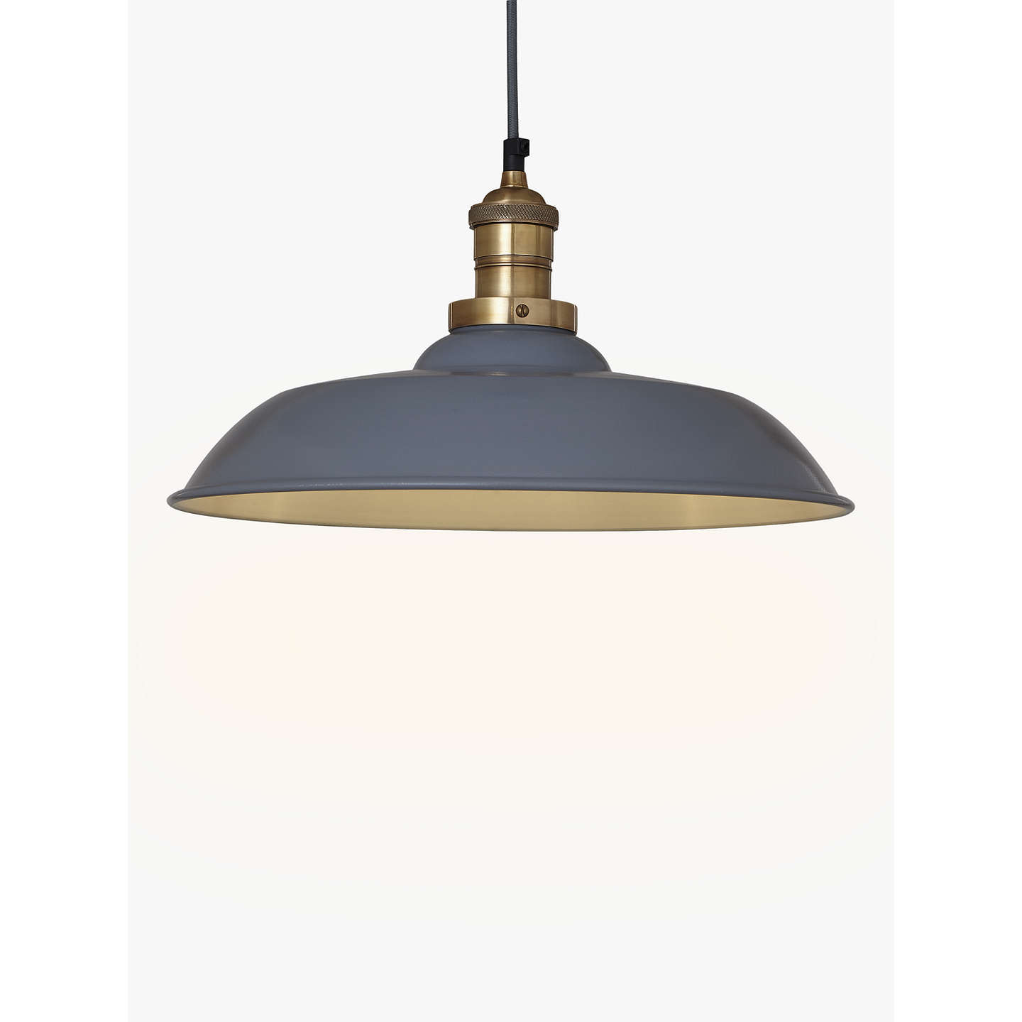 Croft collection clyde brass trim ceiling pendant light at john lewis buycroft collection clyde brass trim ceiling pendant light greybrass online at johnlewis mozeypictures