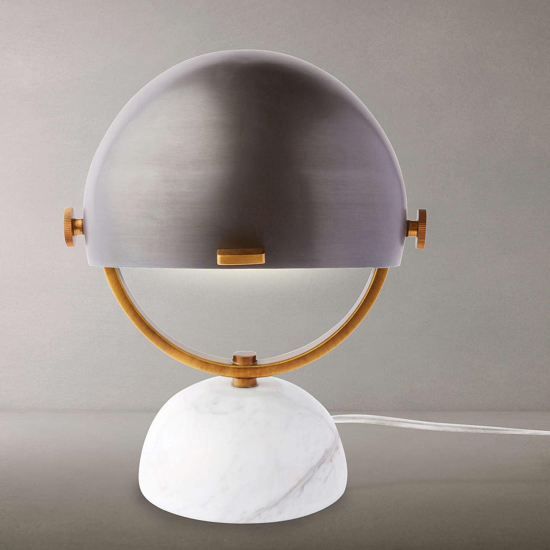 West Elm Clint Mini Task Desk Lamp Marble At Johnlewis Com