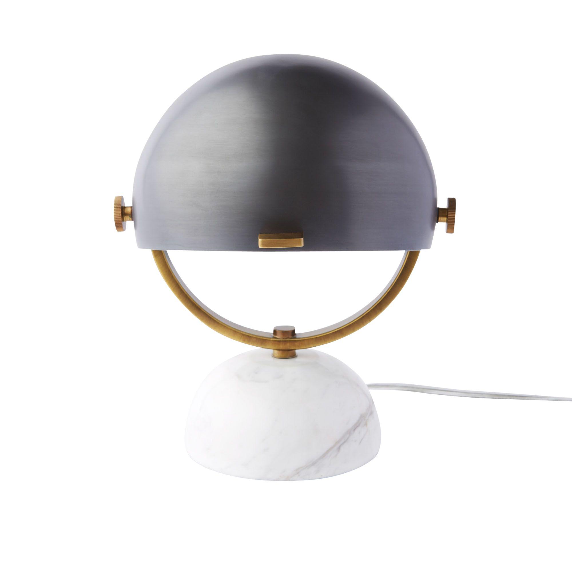 West Elm Clint Mini Task Desk Lamp Marble At John Lewis Partners