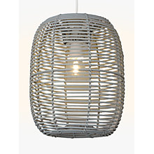 Buy John Lewis Bay Easy-to-Fit Pendant Shade, Grey Online at johnlewis.com