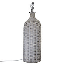 Buy John Lewis Croft Barnaby Lamp Base, Grey Online at johnlewis.com