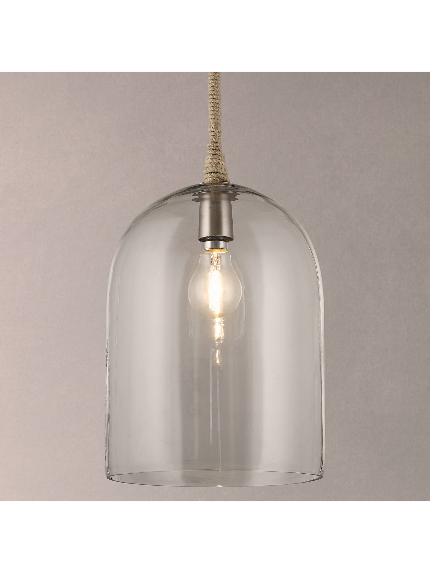 John Lewis Amp Partners Cloche Glass Pendant Ceiling Light At John Lewis Amp Partners