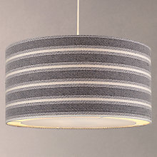 Buy John Lewis Coastal Cotton Stripe Shade with Diffuser Online at johnlewis.com