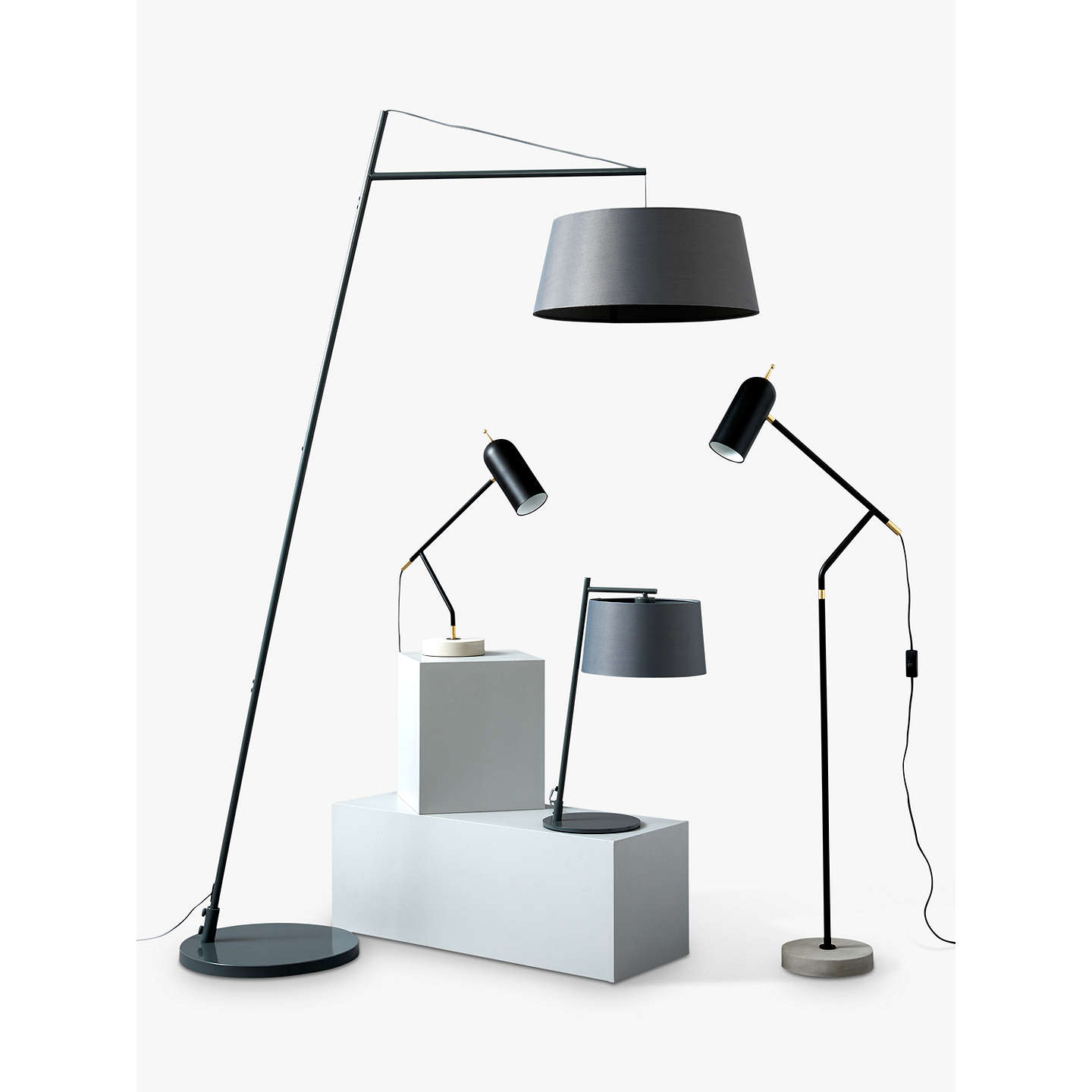 BuyDesign Project By John Lewis No.045 LED Task Lamp, Black Online At  Johnlewis ...