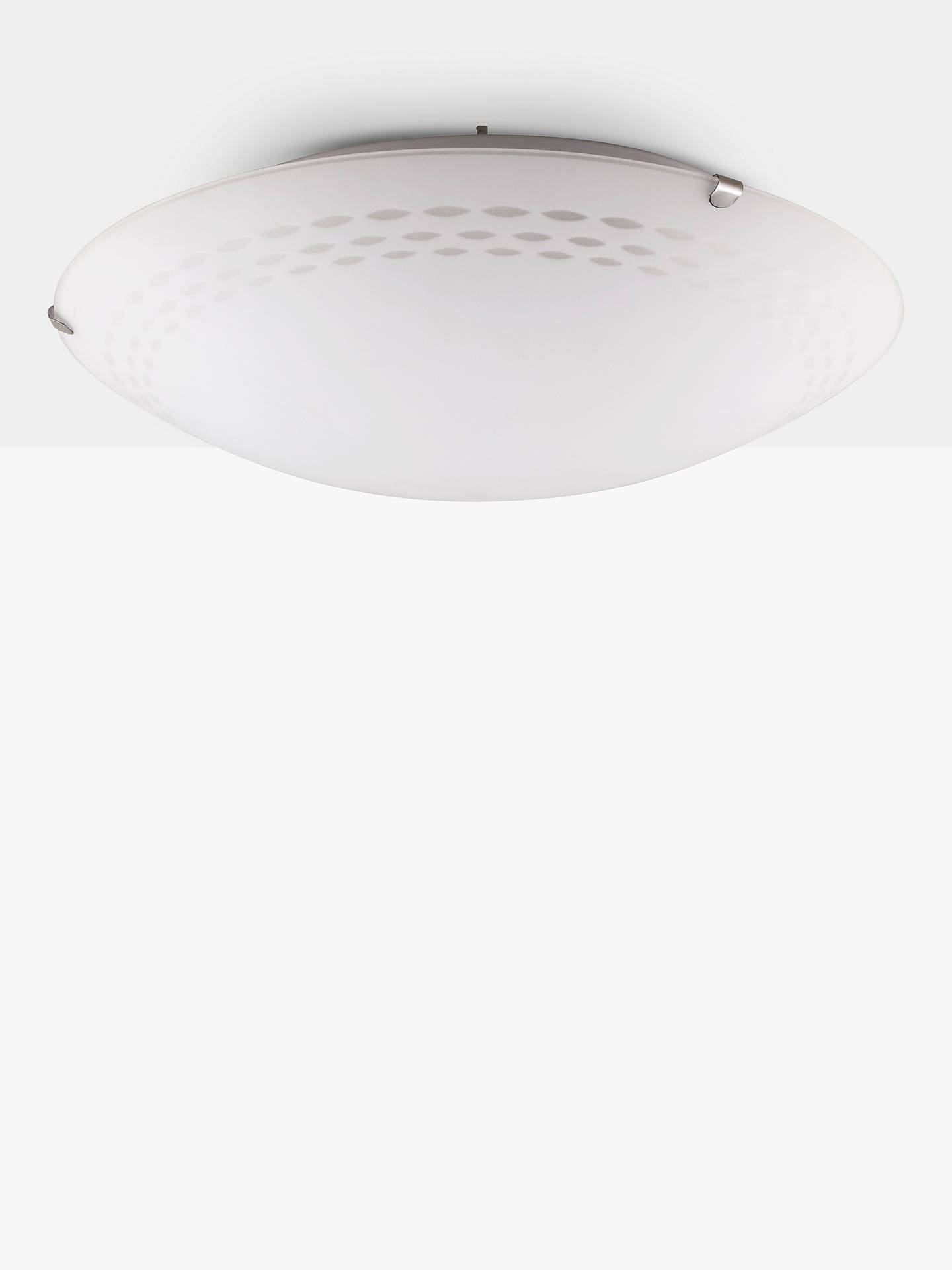 John Lewis Partners Dash Flush Ceiling Light White Online At Johnlewis