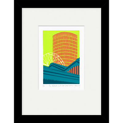 Jennie Ing – The Rotunda with Moor Street Station Limited Edition Framed Print, 34 x 44cm