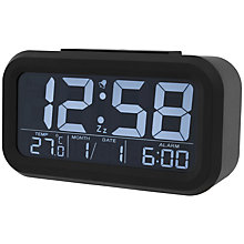 Buy Acctim Meto Multifunction LCD Alarm Clock, Black Online at johnlewis.com