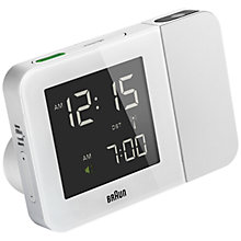Buy Braun Projection Radio Controlled Alarm Clock, White Online at johnlewis.com