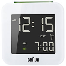 Buy Braun Radio Controlled Travel Global Alarm Clock Online at johnlewis.com