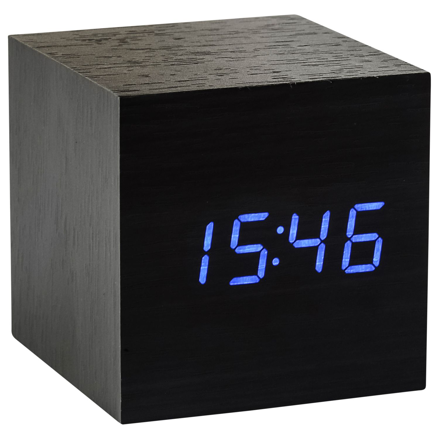 gingko click clock cube led alarm clock bluewater. Black Bedroom Furniture Sets. Home Design Ideas