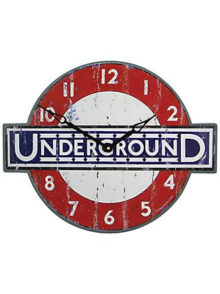 Lascelles London Underground Wall Clock, Red/Blue