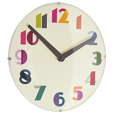 Image of London Clock Company Geo Domed Wall Clock, Dia.30cm, Multi