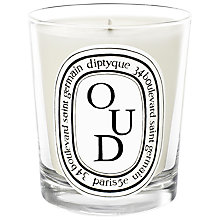 Buy Diptyque Oud Scented Candle, 190g Online at johnlewis.com